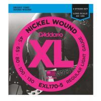 D'Addario EXL 170-5 Regular Light Muta di corde per basso elettrico