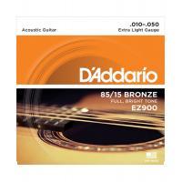 D'Addario EZ 900 Extra Light Muta di corde per chitarra acustica