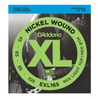 D'Addario EXL 165 Regular Light Top / Medium Bottom Muta di corde per basso elettrico