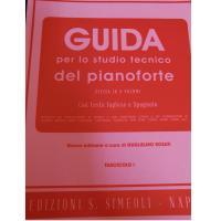 Rossomandi GUIDA per lo studio tecnico del pianoforte Divisa in 8 Volumi con testo Inglese e Spagnolo (Rosati) Fascicolo l - Edizioni S. Simeoli