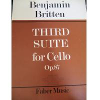 Benjamin Britten Third Suite for Cello Op. 87 - Faber Music