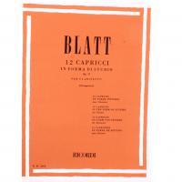 Blatt 12 Capricci in forma di studio Op. 17 per clarinetto (Giampieri) - Ricordi