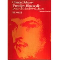 Claude Debussy Première Rhapsodie pour clarinette et piano - Ricordi