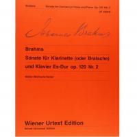 Brahms Sonata for Clarinet and Piano Op. 120 No. 2 - Wiener Urtext Edition