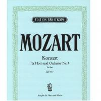 Mozart Konzert fur Horn und Orchester Nr. 3 KV 447 - Breitkopf