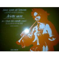 Ariette sacre per 2 flauti dolci contralti o tenori - Ricordi