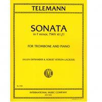 Telemann SONATA in F minor, TWV 41:f1 for Trombone and Piano - International Music Company