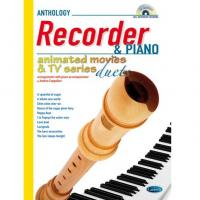 Anthology Recorder & Piano Animated movies & TV series Duets - Carisch