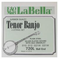 Muta di corde La Bella Tenor Banjo 4 String Set 720L Ball End