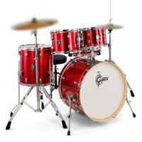 Gretsch drum Set Energy Red - Hardware originale incluso - SENZA PIATTI con Cassa da 22