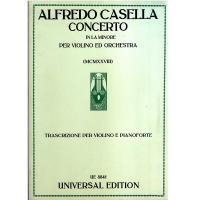 A. Casella Concerto in La minore per Violino ed Orchestra Klavierauszug 5/92 - Universal Edition