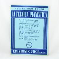 Alessandro Longo La tecnica pianistica VIII - Edizioni Curci