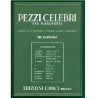 Pezzi Celebri per pianoforte VIII Fascicolo raccolta di 12 composizioni pianistiche, classiche e romantiche - Edizioni Curci Milano