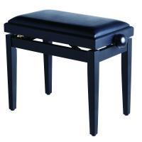 Panca per pianoforte nero satinato con regolazione seduta