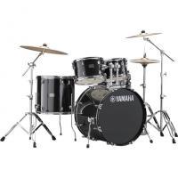 Yamaha Rydeen Black Glitter RDP0F5 con Piatti Paiste 101 Batteria Acustica