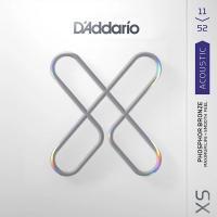 D'Addario XS XSAPB1152 11-52 Acoustic Phosphor Bronze Custom Light Muta di corde per chitarra acustica